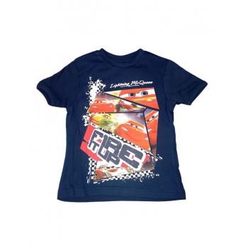 T-shirt maglia maglietta bimbo bambino Disney Cars blu
