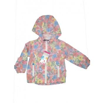 Giubbino giacca a vento bimba bambina Losan fiori fantasia