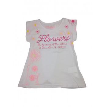 T-shirt maglia maglietta bimba bambina Losan bianco rosa