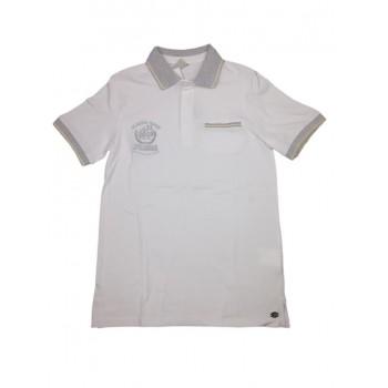 T-shirt maglia maglietta polo bimbo bambino Trybeyond bianco