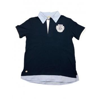 T-shirt maglia maglietta polo bimbo bambino Trybeyond blu