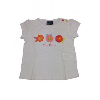 T-shirt maglia maglietta bimba neonato bambina Losan bianco