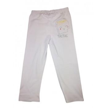 Pantalone leggings bimba bambina neonato Tuc Tuc bianco