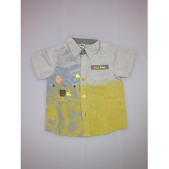 Camicia bimbo neonato bambinoTuc Tuc grigio verde