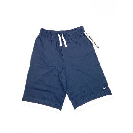 Pantaloncino pantalone bermuda bimbo bambino Trybeyond blu