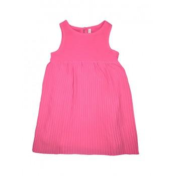 Abitino abito vestito bimba neonato bambina senza manica fucsia Losan Chic
