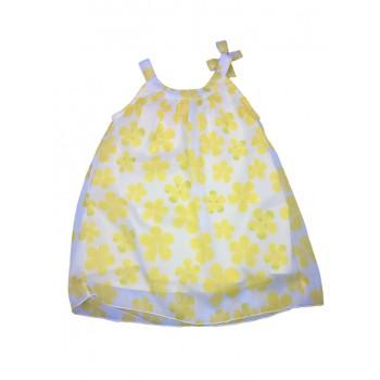 Abitino abito vestito bimba neonato bambina senza manica Losan Chic giallo