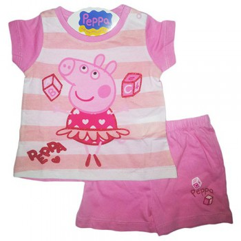 Pigiama 2 pz bimba neonata Peppa Pig rosa