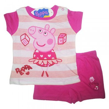 Pigiama 2 pz bimba neonata Peppa Pig fucsia