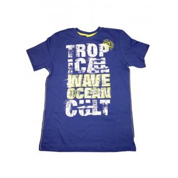 T-shirt maglia maglietta bimbo  bambino Trybeyond blu