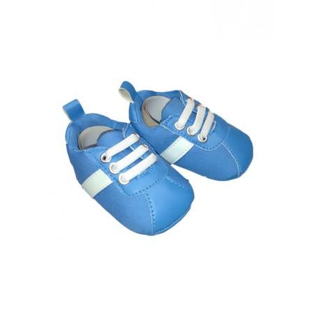 Scarpina scarpa Pastello bimbo neonato azzurro