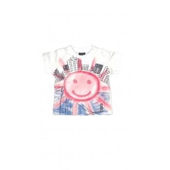 T-shirt maglia maglietta bimbo neonato Losan bianco