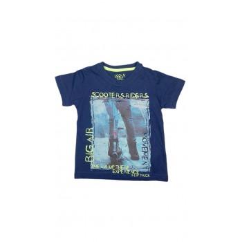 T-shirt maglia maglietta bimbo  bambino Losan blu