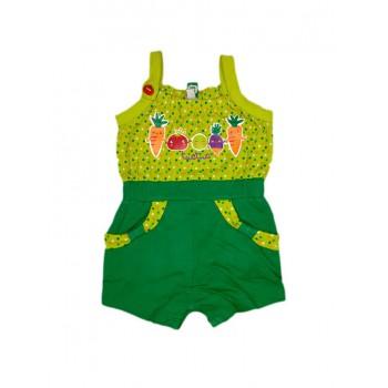 Tuta vestito bretellina senza manica pantaloncino bimba bambina Tuc Tuc verde