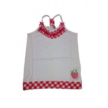 Canotta maglia maglietta senza manica bimba bambina Tuc Tuc bianco