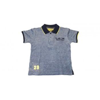 T-shirt maglia maglietta polo bimbo bambino Losan grigio blu