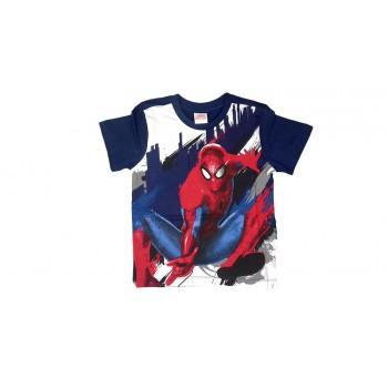 T-shirt maglia maglietta bimbo bambino uomo ragno Spiderman blu