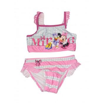 Costumino costume da bagno 2 pezzi bimba bambina Disney Minnie rosso blu