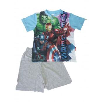 Pigiama maglia maglietta pantaloncino bimbo bambino Avengers
