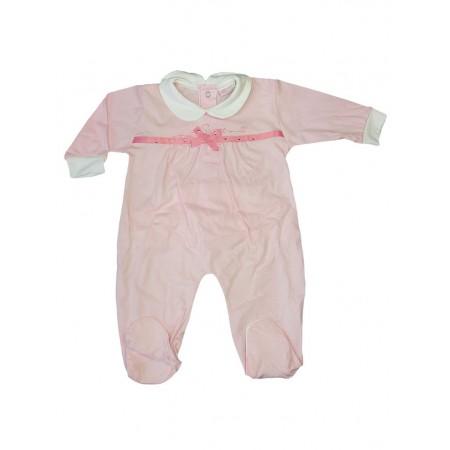 Tuta tutina cotone bimba neonato Mio Piccolo rosa