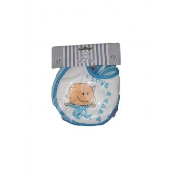 Confezione 6 pezzi bavetta bavaglino bavagli bimbo neonato cielo pvc