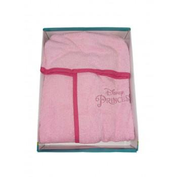 Accappatoio bimba spugna cotone neonato Disney Principesse rosa