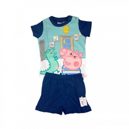 Pigiama 2 pz bimbo neonato Peppa Pig - George blu