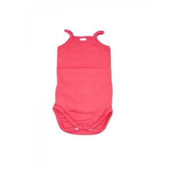 Body bodino intimo cotone biologico neonato bimbo bimba senza manica bretellina Rapife panna
