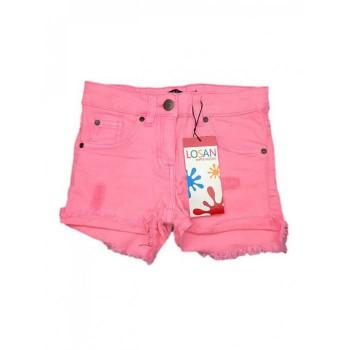 Pantaloncino shorts jeans bimba bambina Losan rosa