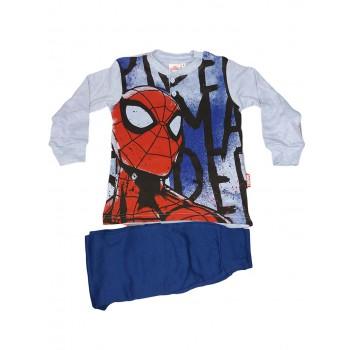 Pigiama maglia maglietta pantalone bimbo bambino Spiderman cielo azzurro