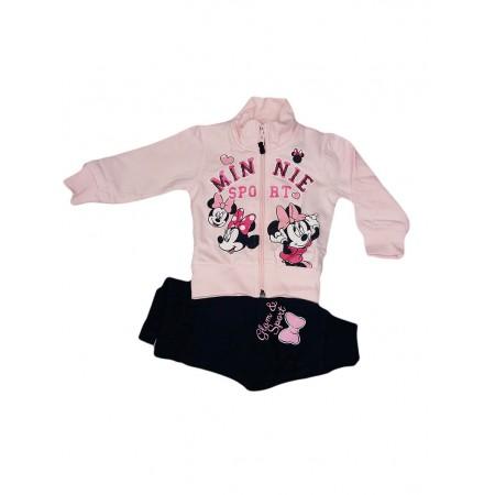 Completo tuta 2pz maglia maglietta pantalone bimba neonato Disney baby Minnie