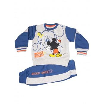 Completo tuta 2pz maglia maglietta pantalone bimbo neonato Arnetta Disney baby Mickey