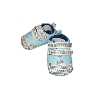Scarpina scarpa Pastello bimbo neonato bianco cielo