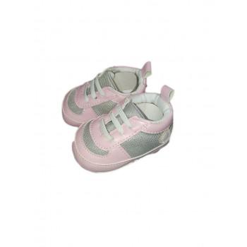 Scarpina scarpa Pastello bimba neonato rosa grigio