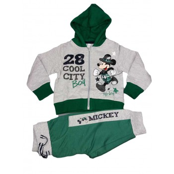 Completo tuta 2pz felpa maglia pantalone bimbo neonato Arnetta Disney baby Mickey