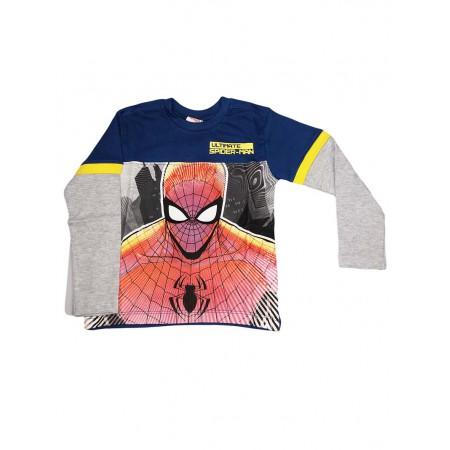 7d336e98 T-shirt maglia maglietta bimbo bambino Arnetta uomo ragno Spiderman grigio  blu