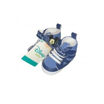 Scarpina scarpa bimbo neonato Disney baby Mickey blu