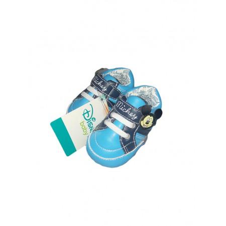 Scarpina scarpa bimbo neonato Disney baby Mickey turchese
