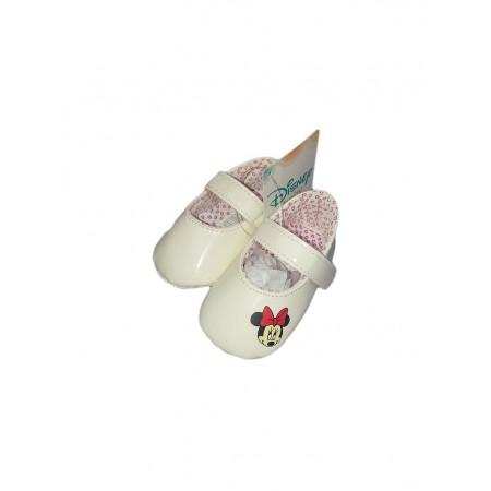 premium selection 97919 ec11c Scarpina scarpa ballerina bimba neonato Disney Minnie panna ...