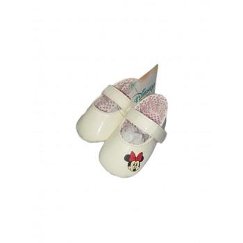Scarpina scarpa ballerina bimba neonato Disney Minnie panna