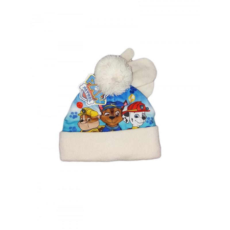 Set 2pz cappello cappellino muffole guanti bimbo bambino Paw Patrol bianco 2913b1ec036e