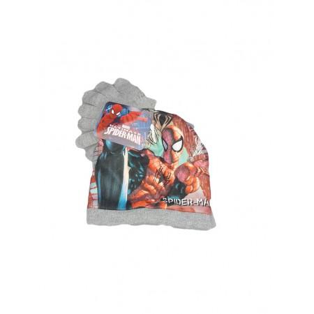 Set 2pz cappello cappellino guanti bimbo bambino Spiderman grigio ... 248a56ca866f