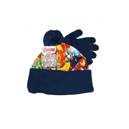 Set 2pz cappello cappellino guanti bimbo bambino Avengers blu - Baby ... b183ad2e35f9