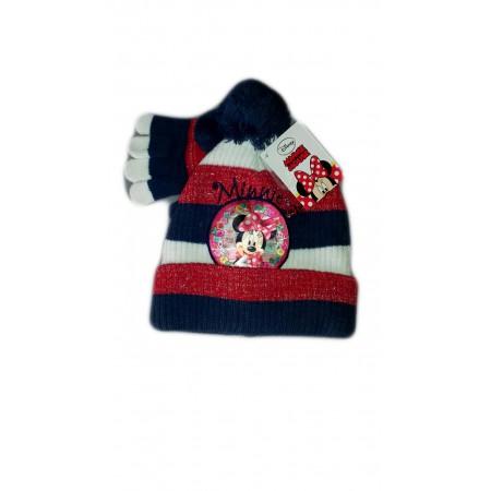 Set 2pz cappello cappellino guanti bimba bambina Disney baby Minnie rosso eda028f18f90