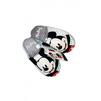 Pantofola bimbo bambino Disney Mickey verde acqua