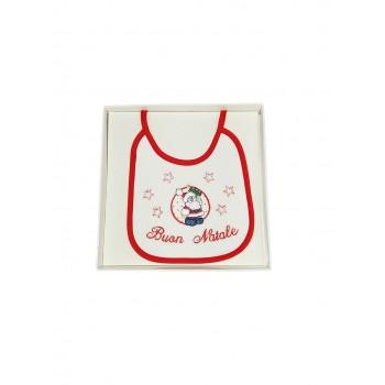 Bavetta bavaglino bavaglio Natale bimba bimbo neonato ciniglia Birillini