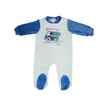 Tuta tutina ciniglia bimbo neonato Ellepi cielo
