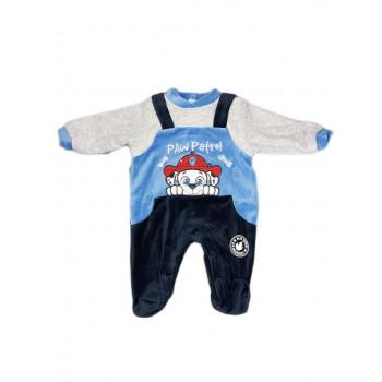 Tuta tutina ciniglia bimbo neonato Arnetta Paw Patrol azzurro