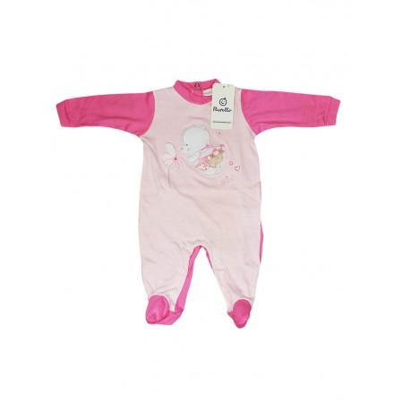 Tuta tutina cotone bimba neonato Pastello rosa