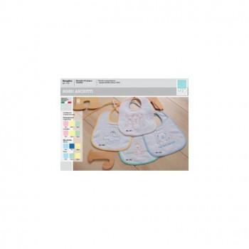 Confezione 3 pz bavetta bavaglini bavagli bimbo neonato spugna Mio piccolo